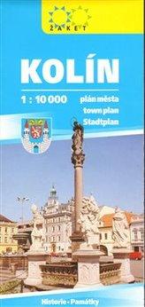 Kolín plán města 1:10 000