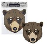 maska papírová, medvěd