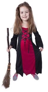 Dětský kostým bordó čarodějnice (M), Čarodějnice / Halloween