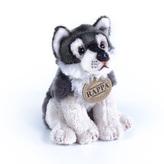 plyšový vlk sedící, 15 cm