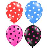 balónek nafukovací 30 cm s potiskem 3 ks v sáčku, 4 barvy