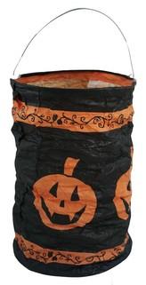 Lampion Halloween - dýně, čajová svíčka, 15 cm