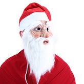 maska Santa Claus s čepicí a vousy