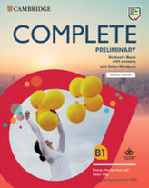 Complete Preliminary Second edition Student´s Book with answers with Online Workbook