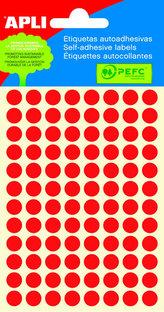 Samolepicí etikety O 8 mm - červené