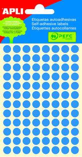 Samolepicí etikety O 8 mm - modré