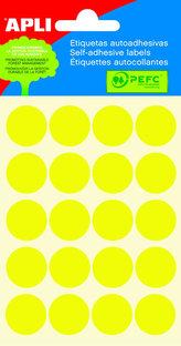 Samolepicí etikety O 19 mm - žluté