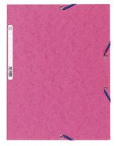 Spisové desky s gumičkou A4 prešpán 400 g/m2 - růžové
