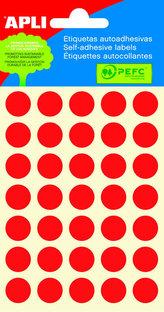 Samolepicí etikety O 13 mm - červené