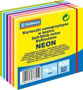 Samolepicí bločky 76 x 76 mm - neonové pastelové barvy 400 listů