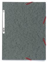 Spisové desky s gumičkou A4 prešpán 400 g/m2 - šedé