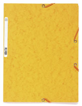 Spisové desky s gumičkou A4 prešpán 400 g/m2 - tmavě žluté