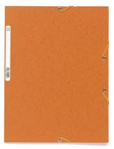 Spisové desky s gumičkou A4 prešpán 400 g/m2 - oranžové