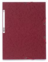 Spisové desky s gumičkou A4 prešpán 400 g/m2 - třešňově červené