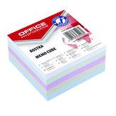 Poznámkový papír náhradní 85 × 85 mm nelepený -mix pastelových barev