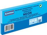 Samolepicí bloček 51 x 38 mm - neonově modrý 3 x 100 listů