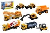 Stavební stroje kov/plast 10-12cm