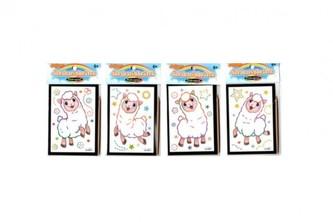 Škrabací obrázek mini překvapení 8,5x12cm 4 druhy v sáčku 36ks v boxu