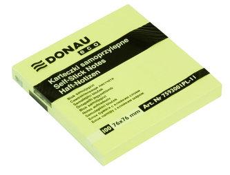 Samolepicí bloček Eco 76 × 76 mm - žlutý 100 listů