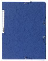 Spisové desky s gumičkou A4 prešpán 400 g/m2 - modré