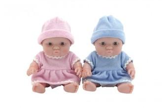 Miminko panenka pevné tělo plast 20cm 2 barvy