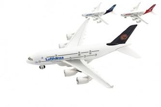 Letadlo kov/plast 22cm na volný chod