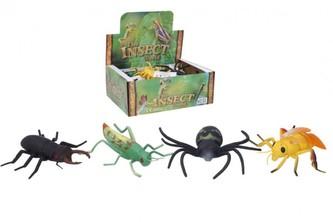 Hmyz plast 12-14cm 4 druhy 12ks v boxu
