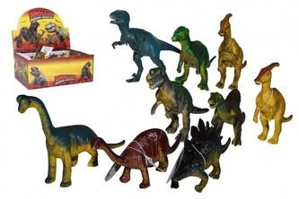 Dinosaurus plast 14cm mix druhů 24ks v boxu
