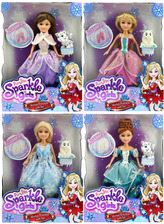 Princezna Sparkle Girlz zimní se zvířátkem