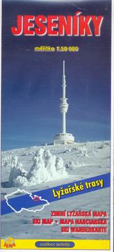 Jeseníky 1:50 000 Zimní lyžařská mapa