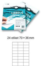 Etikety EUROLABELS - 24 etiket na A4 (100 ks), 140g
