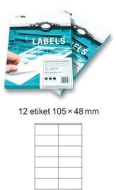 Etikety EUROLABELS - 12 etiket na A4 (100 ks), 140g