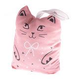 Zarážka dveří kočka - růžová