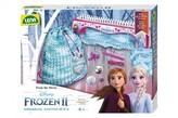 Pletací stůl plast s vlnou a doplňky Ledové království II/Frozen II v krabici 30x24x8cm