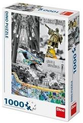 Puzzle Barcelona koláž 1000 dílků