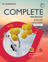 Complete Preliminary Second edition Student´s Book without answers with Online Workbook