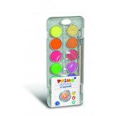 PRIMO vodové barvy 8 barev metalické + 4ks fluo odstíny + štětec