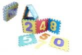 Pěnové puzzle čísla 29x29x8,5cm 10 ks v sáčku
