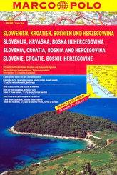 Slowenien, Kroatien, Bosnien und Herzegowina 1:300 000