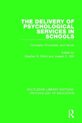 The Delivery of Psychological Services in Schools