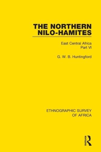 The Northern Nilo-Hamites