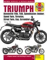 Triumph Bonneville T100, T120, Speedmaster, Bobber, Speed Twin, Thruxton, Street Twin, Cup, Scrambler (16 to 19)