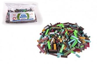 Stavebnice Cheva Taška Plná Kostek plast Army sada 2 kg v plastové tašce