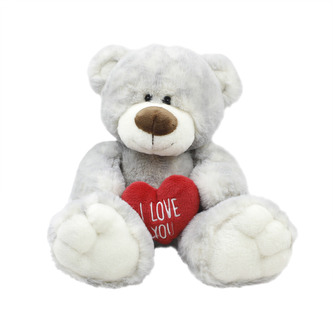 Mazlíci plyšové zvířátko Medvídek se srdcem Love 30 cm