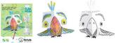 3D Papoušek k vymalování