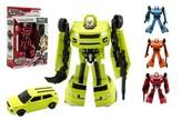 Transformer auto/robot plast 18cm 4 barvy v krabici 19x22x6cm