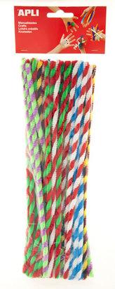 APLI modelovací drátky Twist 30 cm - mix kroucených barev 50 ks