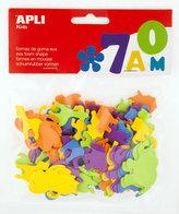 APLI pěnovka tvary - mix zvířat, velikostí, barev 100 ks