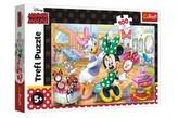 Puzzle Minnie Disney v salónu krásy 41x27,5cm 100 dílků v krabici 29x19x4cm