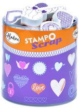 Razítka StampoScrap - srdíčka 35 ks